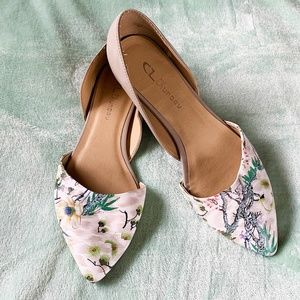 Chinese Laundry Floral D'Orsay Cutout Flats